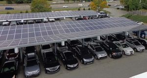 Standard Solar of Rockville installed this photovoltaic system in 2016 at an auto dealer in New York. (Standard Solar photo)