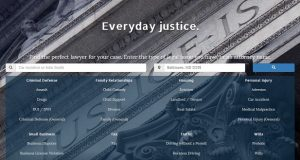 Screenshot from the Justice Toolbox website.