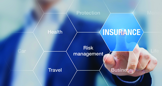 Consultant presenting insurance concept and risk management