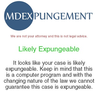 The Chrome extension gives users an idea of whether a case is eligible for expungement.