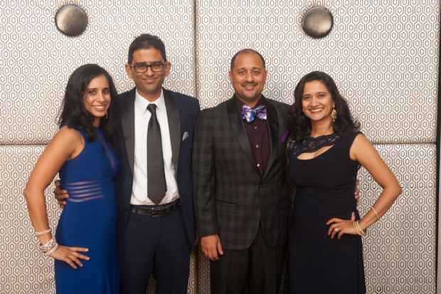 From left, Vidya Kausik; Dr. Sankar Kausik, a physician with Chesapeake Urology Associates P.A.; Dr. Vivek Dhruva, a physician with Upper Chesapeake Cardiology; and Dr. Hetal D. Dhruva, a physician with Bright Oaks Pediatric Center, attend The Upper Chesapeake Health Foundation's Starnight Gala. (Submitted photo by Edwin Remsberg)