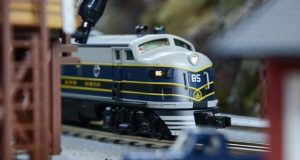 12.16.2016 BALTIMORE, MD- The B&O Railroad Museum is offering weekly events during its month long B&O's Magical Express running from December 3rd to the 31st and January 2nd. One of the O-scale layouts in the museum roundhouse was built by Mikes Train House, a Maryland based model train manufacturer. (The Daily Record/Maximilian Franz)