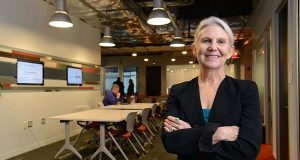 Cybersecurity firms count for 60 percent of the tenants at bwtech@UMBC Research and Technology Park, director Ellen Hemmerly said. Maxmilian Franz/The Daily Record