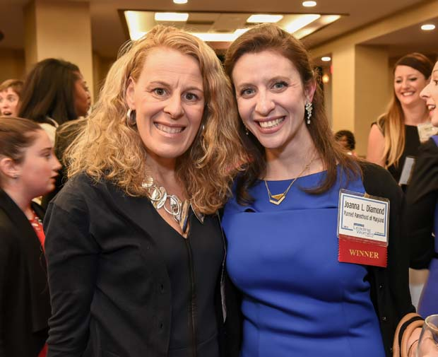 Lori Villegas, Top 100 Woman and Leading Woman judge, and honoree Joanna L. Diamond, vice president of external relations for Planned Parenthood of Maryland.