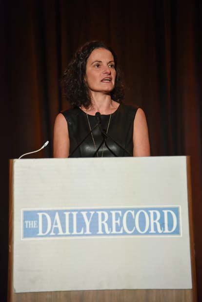 The Daily Record's publisher Suzanne Fischer-Huettner shared the history of the Leading Women award with guests.