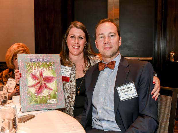 Honoree Talley Kovacs, an attorney with Pessin Katz Law, and her husband, Louis Kovacs.