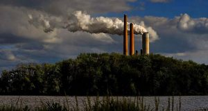 The Cardinal Power Station, a coal fired energy plant in Brilliant, Ohio. (Washington Post photo by Michael S. Williamson.)