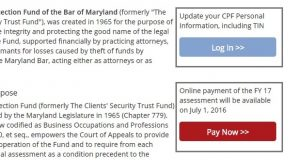 A screenshot of part of the Client Protection Fund website.