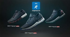 The UA Record Equipped running shoes including the UA SpeedForm Gemini 3 RE, UA SpeedForm Velociti RE and UA SpeedForm Europa RE come with automatic tracking capabilities. (Under Armour image)