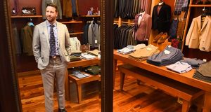 1.18.2017 BALTIMORE, MD- Craig Martin, Founder of QG, Quintessential Gentleman, a high end barber shop that has transformed into a six floor department store, spa, and bar has plans to expand into a new location at the Executive Plaza in Hunt Valley. (The Daily Record/Maximilian Franz)
