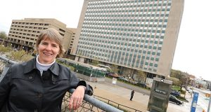 04.13.2011 ANNAPOLIS, MD- Catherine Moore, CEO of Ekistics LLC, the master developer of State Center. Portrait of her at State Center. (The Daily Record/Maximilian Franz).