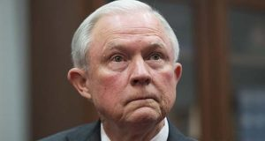 In this Nov. 29, 2016 photo, then-Attorney General nominee Sen. Jeff Sessions, R-Ala., is shown while meeting with Sen. Charles Grassley, R-Iowa, Chairman of the Senate Judiciary Committee, on Capitol Hill in Washington.  (AP Photo/Molly Riley)