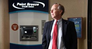 To stay connected to customers, Point Breeze Credit Union has invested in its mobile and online banking options in addition to revamping its ATMS, CEO Bernie McLaughlin said. (The Daily Record / Maxmilian Franz)