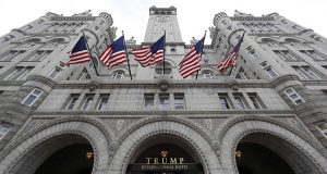 FILE - In this Dec. 21, 2016 file photo, the Trump International Hotel in Washington. (AP Photo/Alex Brandon, File)