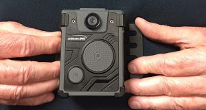An example of a chest-mounted body-worn camera. (J.F. Meils/ Capital News Service via AP)