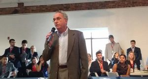 Wasilisin – TEDCO President John Wasilisin addresses a crowd of employers and potential employees at a job fair hosted by Venture For America in Baltimore April 29, 2016. Dan Leaderman