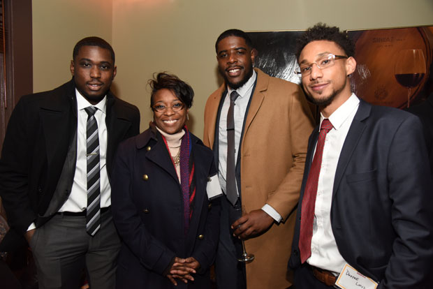 From left, Evan Johnson, Alison Jenkins, Trevon Keene and Dwayne London attended The Daily Record's Eye on Annapolis Happy Hour event. (Photo by Maximilian Franz / The Daily Record)