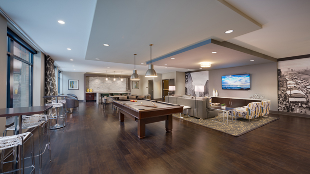 The living areas are open and spacious, and each apartment includes attractive and convenient features. (Photo by Jeffrey Sauers)