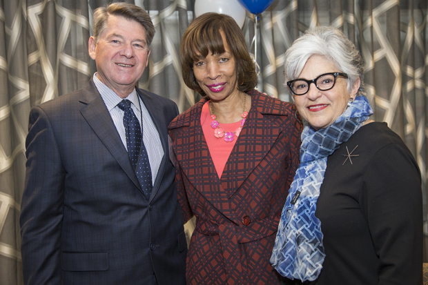 From left, Kenneth C. Holt, the secretary of the Maryland Department of Housing and Community Development; Baltimore Mayor Catherine Pugh; and Chickie Grayson, president and CEO of Enterprise Homes Inc., were on hand for the Mulberry at Park Apartments' grand opening. (Photo by Alan Gilbert)
