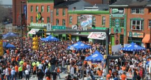 "After seeing stadiums in Kansas City on the outskirts of town, then-Baltimore Mayor Kurt Schmoke backed a plan to build Oriole Park at Camden Yards downtown in part to help lift businesses and spur development around the ballpark. 'It's just a symbol of progress,"" he says. (File photo)"