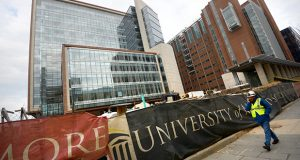 The UMB Dental School building. (The Daily Record / Maximilian Franz)