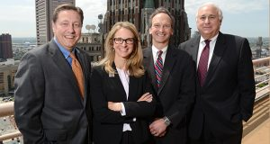 From left: Donald J. Walsh, Laura Rubenstein, Douglas H. Seitz and Max S. Stadfeld. (Maximilian Franz/The Daily Record)