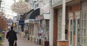 Pikesville's commercial corridor has been designated for years by the Baltimore County as a Commercial Revitalization District in an attempt to bolster economic growth. (File photo)