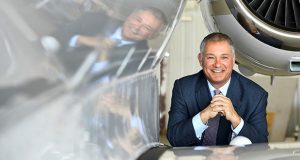 James Butler owns Shaircraft Solutions, which negotiates terms for travelers who want fractional ownership of a private jet. (Katherine Frey / Washington Post)