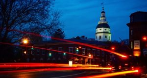 Annapolis at night