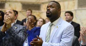 Sen. Cory McCray is one of the leading advocates for raising Maryland's minimum wages, in phases, to $15 an hour. (File Photo/Maximilian Franz)