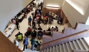 The crowd during Senior Law Day on Saturday, April 22, at Baltimore City District Court. (Photo: Divya Potdar)