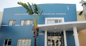 The Downtown Miami Charter School in Miami earlier this month. In 2012, the mother of a second-grade student at the school filed suit after she said she pleaded in vain for months for administrators to protect her son from sexual abuse by an older boy at the charter school. Eventually, the 7-year-old tried to kill himself by walking into traffic with his eyes closed, according to the family's lawsuit. Two years later, the boy testified, he still had nightmares his tormenter would crawl in through his bedroom window and kill his mother. (Alan Diaz/AP photo)