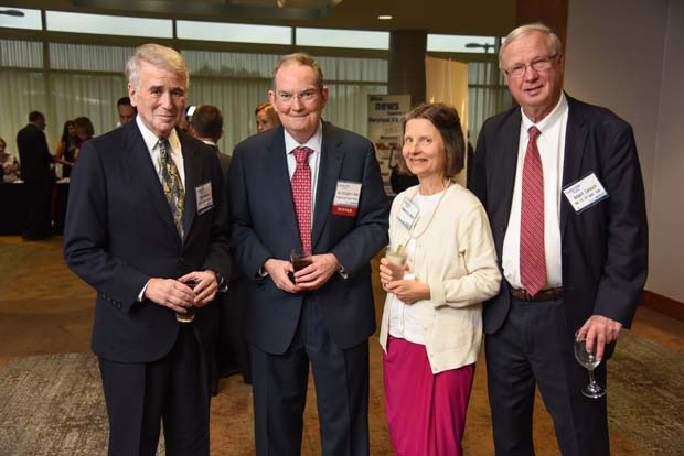 Ret. Chief Judge Peter Krauser; Judge Chistopher Kehoe, Maureen Kehoe, Judge Robert Zarnoch. (The Daily Record / Maximilian Franz)