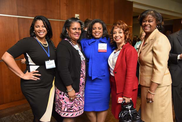 Felicia Jackson-Smith, Judge Vicki Ballou-Watts, Lisa Y. Settles, Kathy Boykins and Keitha Robinson (The Daily Record / Maximilian Franz)