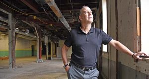 5.22.17 BALTIMORE, MD- Kevin Russell, President and CEO of Hammerjacks Entertainment Group at 1300 Russell Street, the soon to be new home of Hammerjacks.  (Maximilian Franz/The Daily Record)