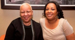 Diane Bell McKoy, left, president and CEO, Associated Black Charities, sits with Tanya Terrell, executive director, SBLC (Photo by Tracey Brown)