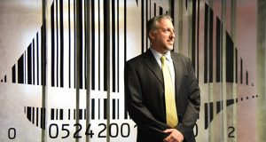 Jay Steinmetz, CEO of Barcoding Inc. stands in his office. (The Daily record / Maximilian Franz)