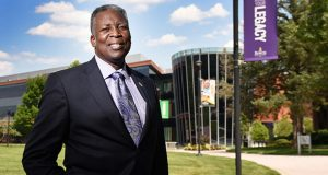 Outgoing President of Bowie State University Mickey Burnim. (Maximilian Franz/The Daily Record)