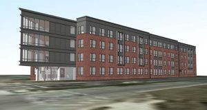 Enterprise Homes, Inc. closed on financing last week for Metro Heights at Mondawmin, a new transit-oriented development that will be located at Reisterstown Road and Liberty Heights Avenue, Baltimore (ZIger-Snead rendering)