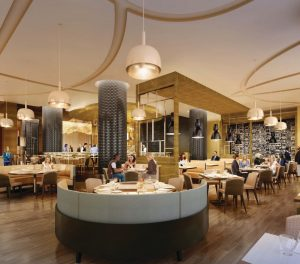 An interior rendering of David's Cafe by Todd English, named after The Cordish Companies' Chairman David Cordish. (PRNewsfoto/Live! Casino and Hotel)