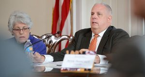 Governor Larry Hogan speaks at a Board of Public Works meeting. (File)