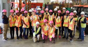 Baltimore Gas and Electric Co. on Wednesday hosted 15 school-aged girls participating  in a National Association of Women in Construction camp. (BGE submitted photo)