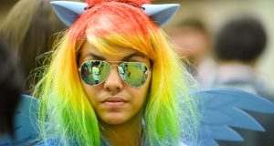 An attendee of BronyCon 2017 in Baltimore. (The Daily Record/Maximilian Franz)