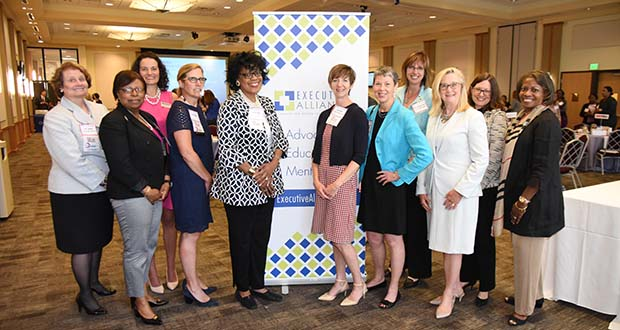 A group photo of leaders and members of the Executive Alliance who attended the Women's Leadership Summit. (The Daily Record / Maximilian Franz)