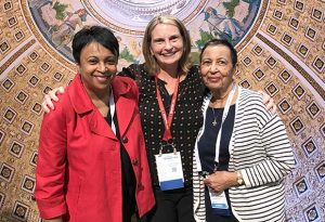Dr. Carla Hayden, Librarian of Congress, left, with Mary Hastler, CEO of Harford County Public Library, center, and Audra Caplan, retired MLS library director. (Submitted photo)