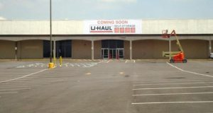 Renovations begin on the former 95.810-square-foot Kmart department store site that will be the new home of U-Haul Moving & Storage of Eastpoint. The company is currently working out of temporary location at 222 N. Point Blvd. (Courtesy photo)