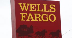 A sign outside a Wells Fargo bank in northeast Jackson, Mississippi. (AP File Photo/Rogelio V. Solis)