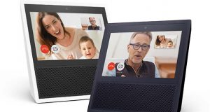 "FILE - This file photo provided by Amazon shows models of the Amazon Echo Show. With Echo Show, Amazon has given its voice-enabled Echo speaker a touch screen and video-calling capabilities as it competes with Google's efforts at bringing ""smarts"" to the home. Amazon has been ramping up efforts to get more people to shop using the Alexa voice assistant on Echo speakers and other Amazon devices. (Amazon via AP, File)"
