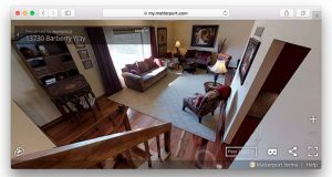 This home in Sykesville, listed by the Creig Northrop Team, is seen in a 3D VR visualization using Matterport technology. (The Daily Record screenshot)