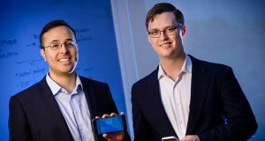 Fractal Tech co-founders Alex Sharata, left, and JR Charles. (The Daily Record / Maximilian Franz)